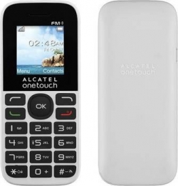Мобильный телефон  ALCATEL  One Touch 1016D black/pure white (2 SIM)