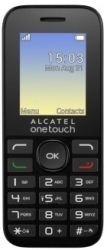 Мобильный телефон  ALCATEL  One Touch 1016D black/volcano black (2 SIM)