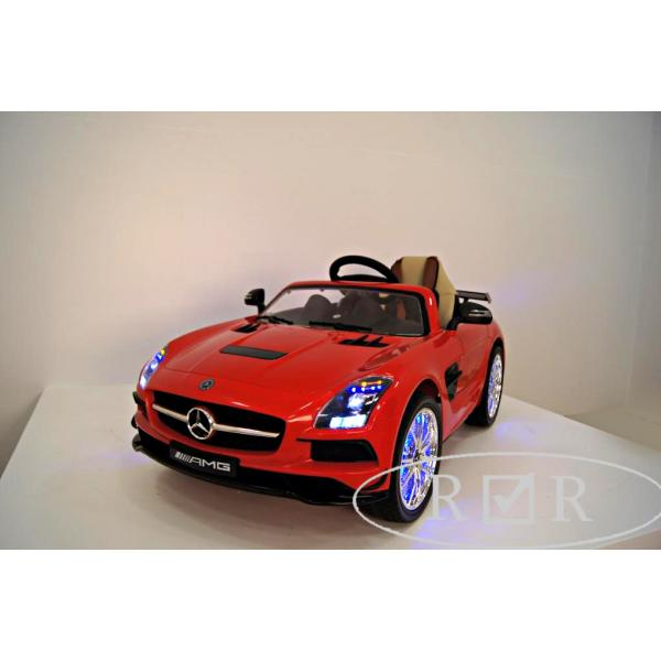 электромобиль rivertoys mercedes benz sls vip красный