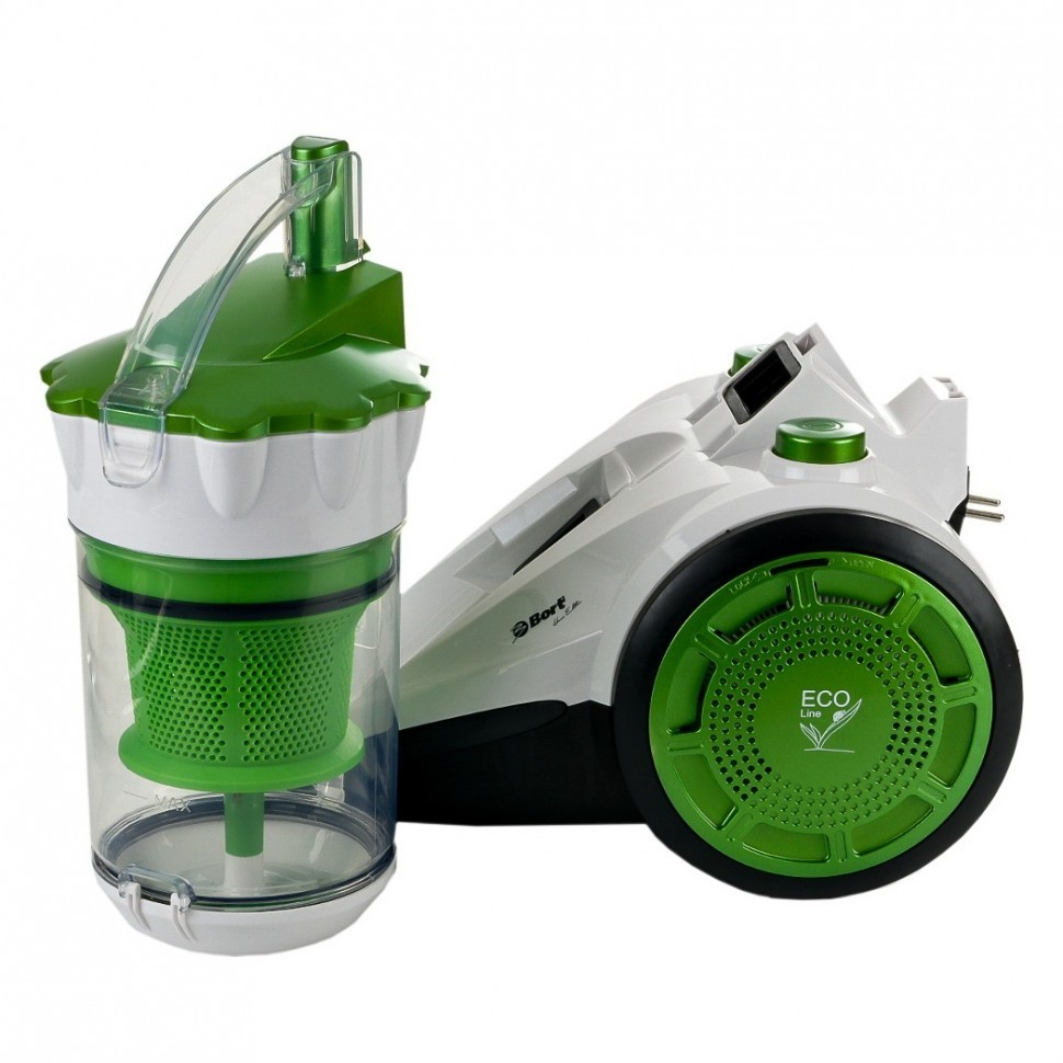 Фото №1 Пылесос Bort BSS-1800N-ECO Multicyclone Green+White