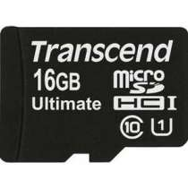 SD карта TRANSCEND microSD 16GB Class 10 UHS-I Ultimate (SD адаптер) (TS16GUSDHC10U1)