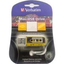 Флеш-накопитель Verbatim 32Gb Mini Cassette Edition Yellow (49393)