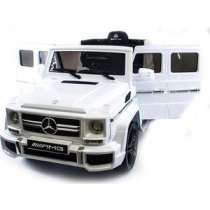 Детский электромобиль Harleybella Mercedes Benz G63 LUXURY 2.4G - White - HL168-LUX-W