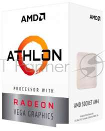 Процессор AMD Athlon 200GE BOX Radeon Vega Graphics <35W, 2C/4T, 3.2Gh(Max), 5MB(L2+L3), AM4> (YD200GC6FBBOX)