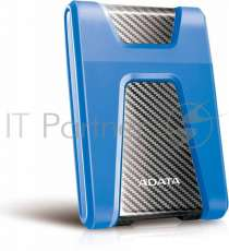 "Внешний жесткий диск 2.5"""" 1TB ADATA HD650 AHD650-1TU31-CBL USB 3.1, Blue, Retail {20}"