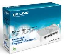 Коммутатор TP-LINK SOHO TL-SF1005D 5-port 10/100M mini Desktop Switch, 5 10/100M RJ45 ports, Plastic case