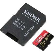Карта памяти SANDISK Extreme Pro microSDHC 32GB + SD Adapter Rescue Pro Deluxe 100MB/s A1 C10 V30 UHS-I U3 (SDSQXCG-032G-GN6MA)