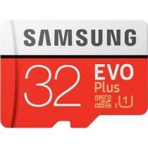 Карта памяти SAMSUNG 32GB EVO Plus v2 microSDHC UHS-I U1 + SD Adapter (MB-MC32GA/RU)