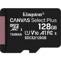 Карта памяти KINGSTON microSDXC 128Gb Canvas Select Plus (class 10/UHS-I/U1/100MB/s)